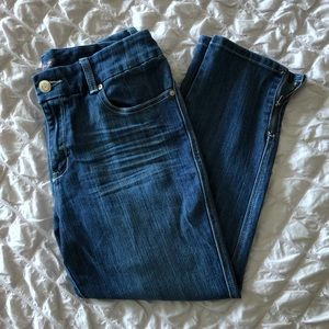 7 For All Mankind Skinny Ankle Zip Cropped Jeans